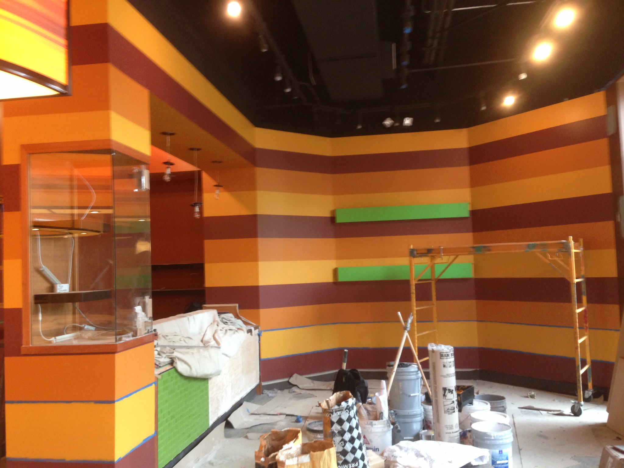 restaurant interior painting